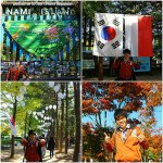Hari 2 : Seoul ( Nami Island, Banpo Bridge Rainbow Fountain )