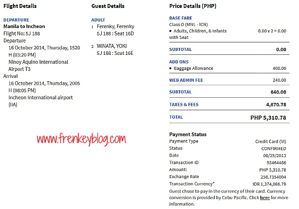 Tiket Manila - Incheon
