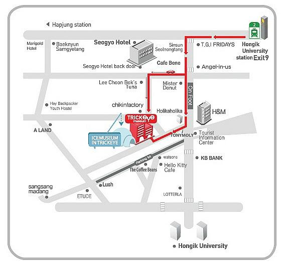 Map Trick Eye Museum - Seoul