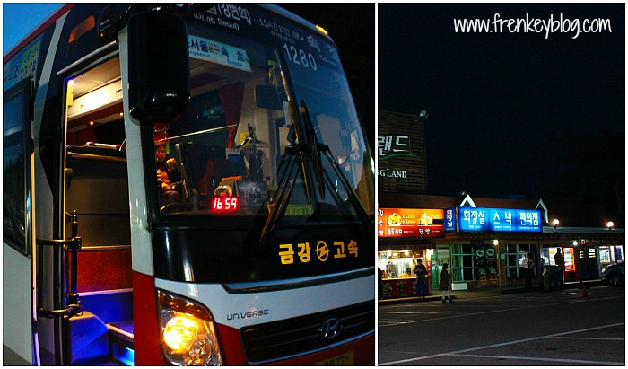 Bus Seoul Sokcho dan Rest Area