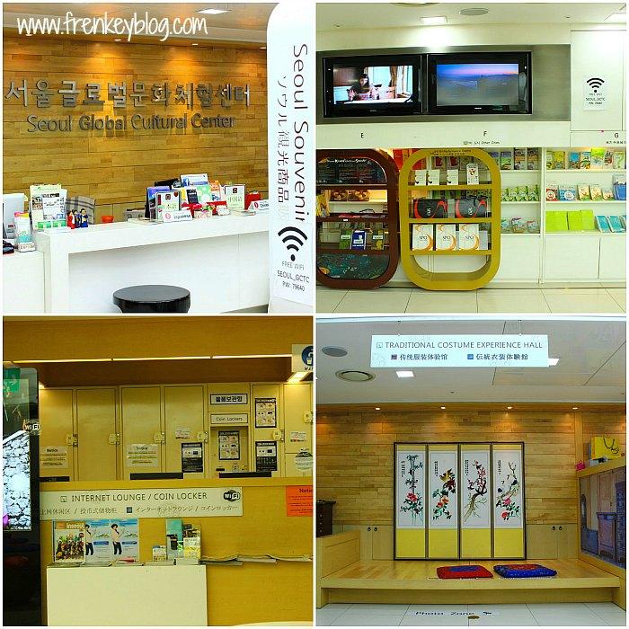 Meja Resepsionis, Free Wifi dan Bacaan Gratis, Coin Locker, Area Foto Hanbok