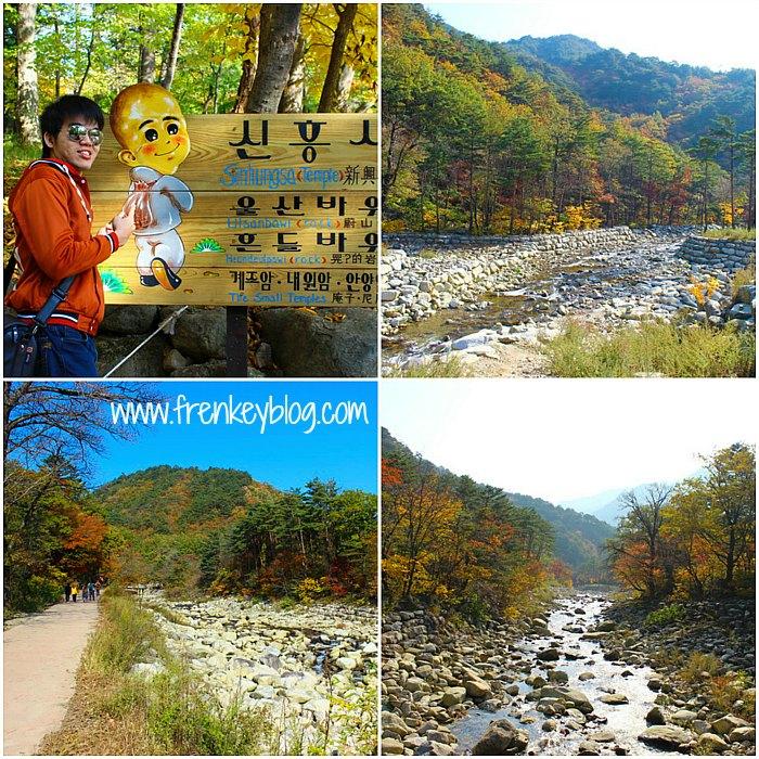 Pemandangan Sungai di Seoraksan National Park