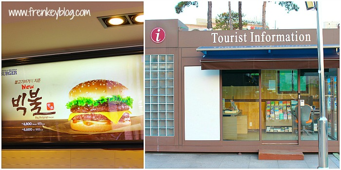Big Bulgogi Burger dan Tourist Information Sokcho