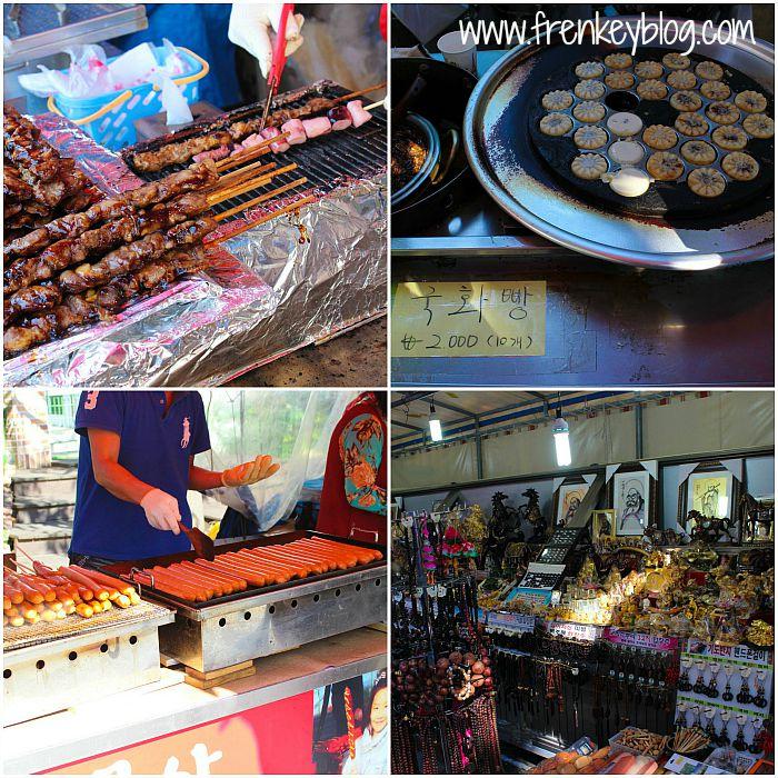 Stick Ayam dan Gurita BBQ, Kue isi Kacang Merah, Sosis Bakar, Aksesoris khas Korea