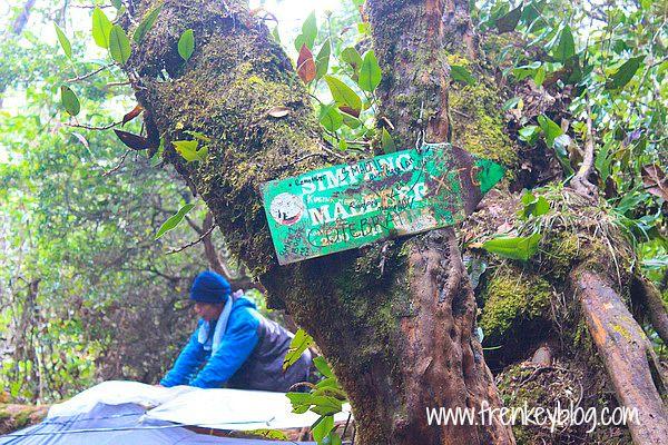 Pos Simpang Maleber Gunung Gede Jalur Putri