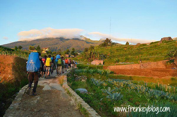 Menuju Pos Penjaga Gunung Gede Jalur Putri