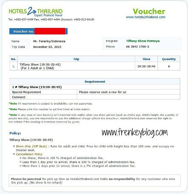 Tiket Tiffany Show via Hotels2Thailand