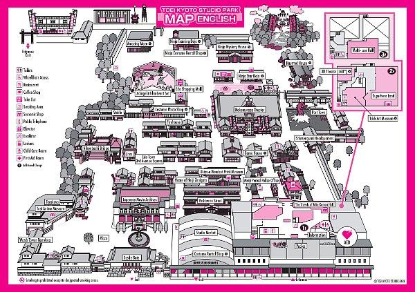 Toei Kyoto Studio Park Map ( Klik Untuk Perbesar )