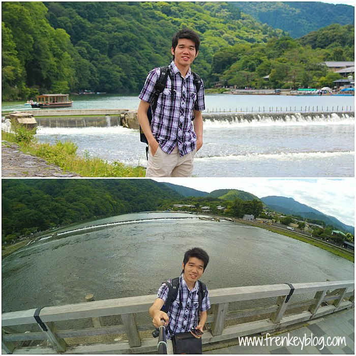 Check in Completed! At Arashiyama Katsura River