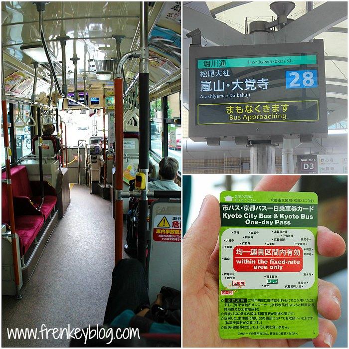 Suasana Bus ke Arashiyama, Petunjuk Antrian Nomor Bus, Kyoto Buss Pass