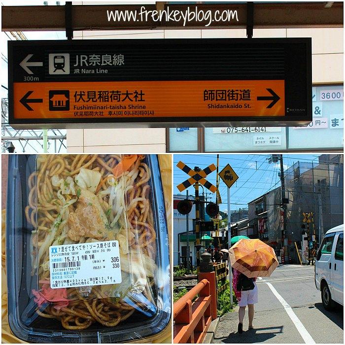 Arah ke Fushimi Inari Shrine, Mie Goreng 330Yen, Jalan Kaki lagi Menuju Fushimi Inari