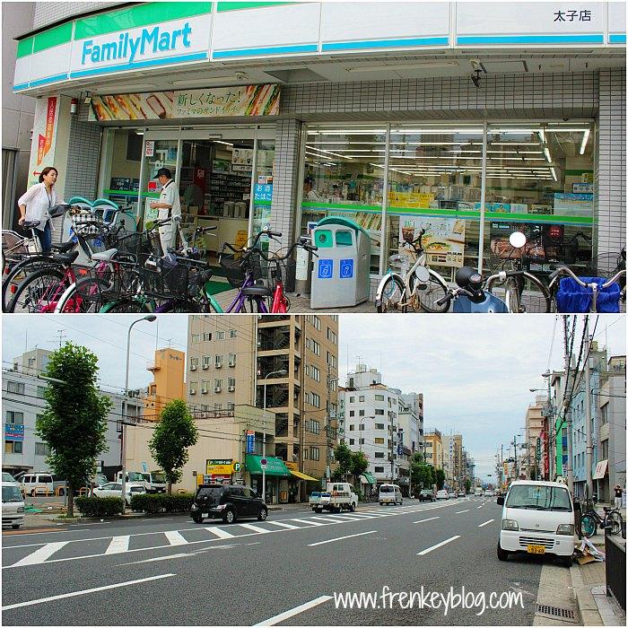 Family Mart dan Suasana Jalanan di dekat Toyo Hotel Pagi itu