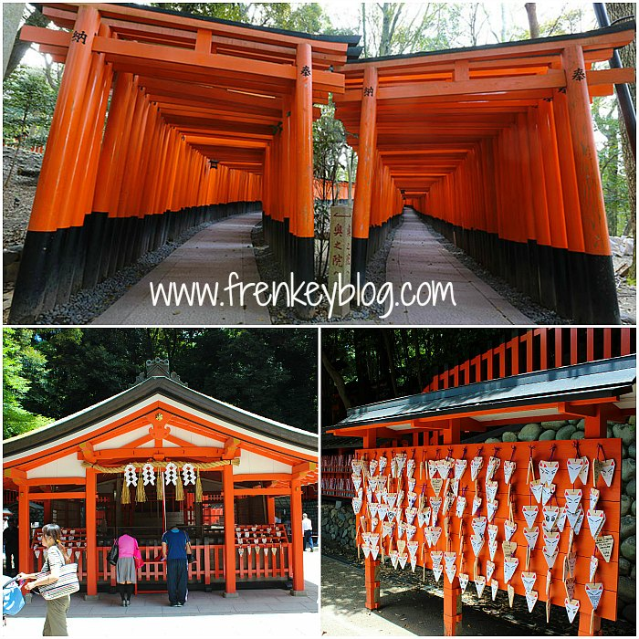 Deretan Torii ( Spot Utama ) dan Kuil di Fushimi Inari