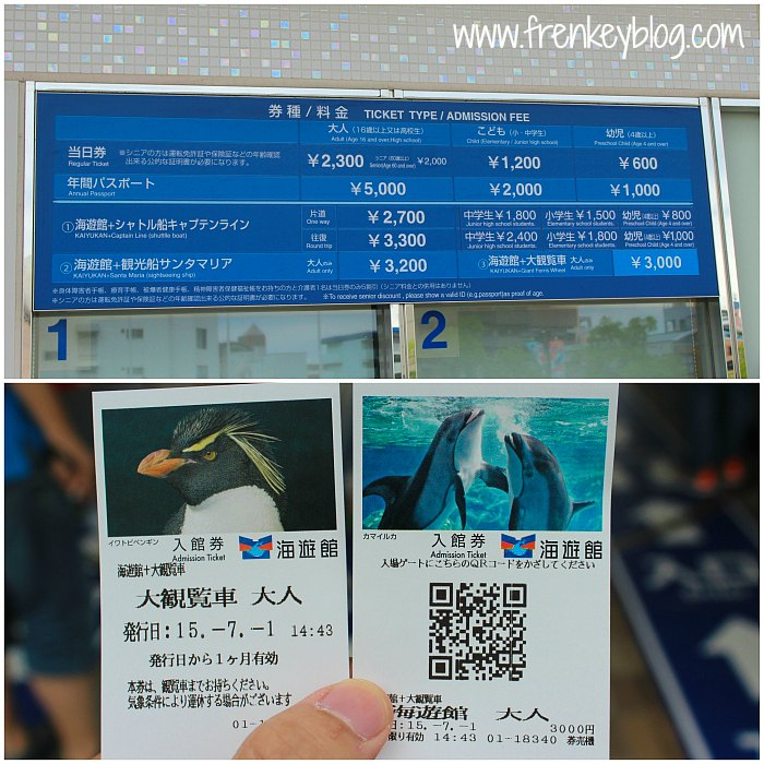 Osaka Aquarium Kaiyukan Ticket