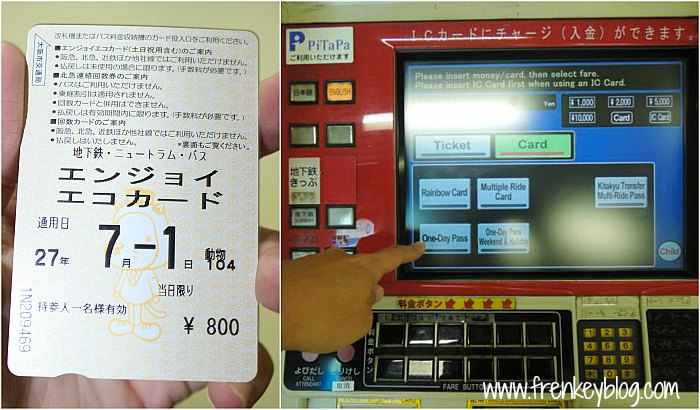 Osaka Subway Pass dan Mesin Beli Pass nya