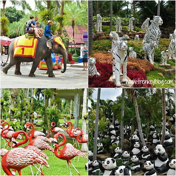 Elephant Ride and Animals Statue @Nong Nooch Garden