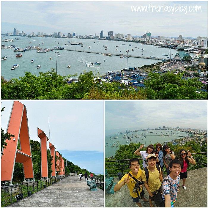 Pattaya View from Pattaya City Sign