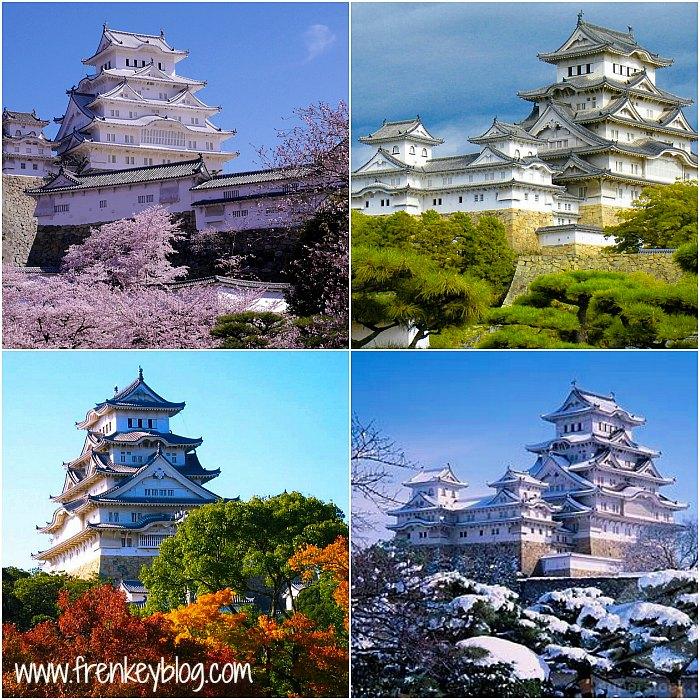 Himeji Castle di 4 Musim
