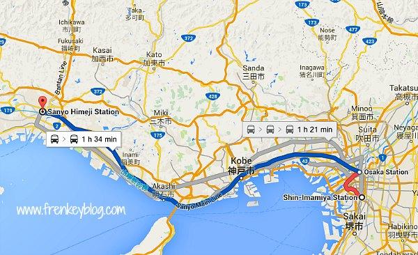 Rute Kereta Osaka to Himeji