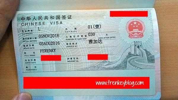 Visa China
