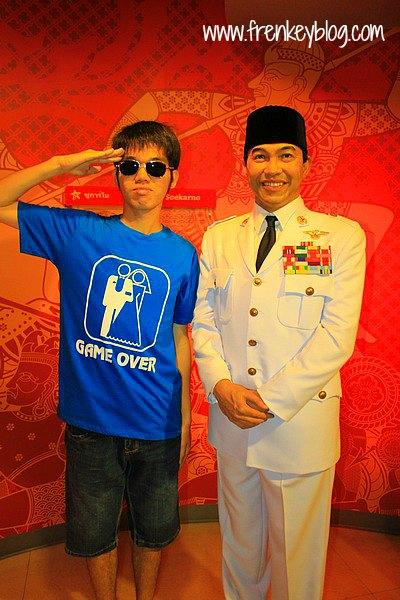 Patung Soekarno di Madame Tussauds Bangkok