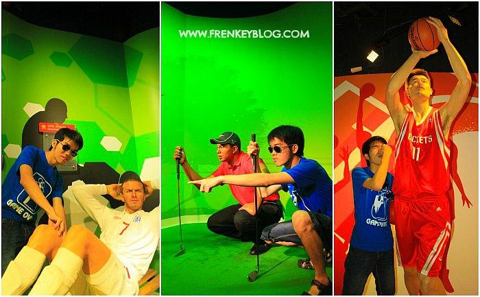 David Beckham, Tiger Woods, Yao Ming - Madame Tussauds Bangkok