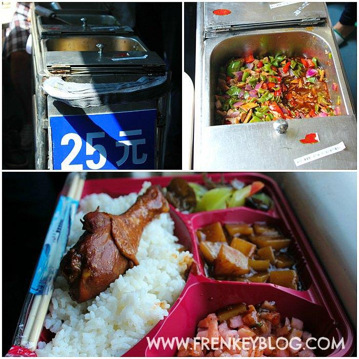 Menu Makan Siang dan Malam yang di Jual hari itu ( Harga 25 Yuan = Rp 50.000 )