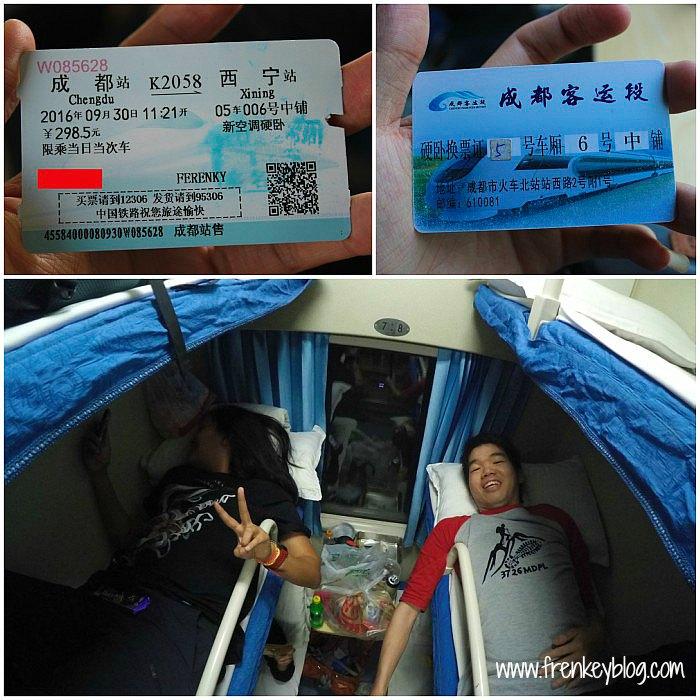 Tiket Kereta Hard Sleeper Chengdu ke Xining - Suasana Sleeper Train Kereta China