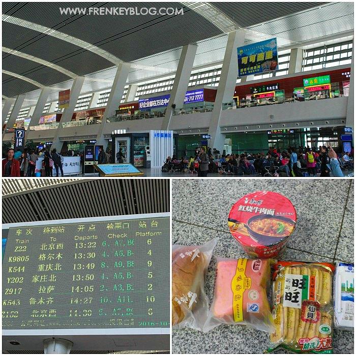 Suasana Xining Station, Jadwal Kereta Z917 ( Xining ke Lhasa ), Aneka Cemilan buat di Kereta