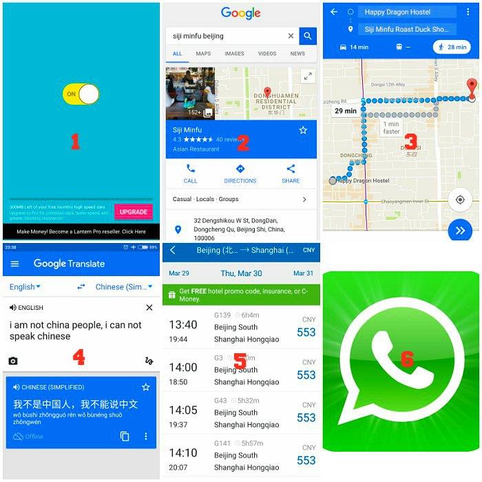 Aplikasi yang berguna selama di Beijing dan Shanghai