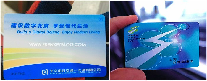 Beijing and Shanghai Metro Card