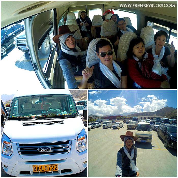 Narsis dulu Parkiran Mobil & Mobil yang di gunakan selama di area Tibet