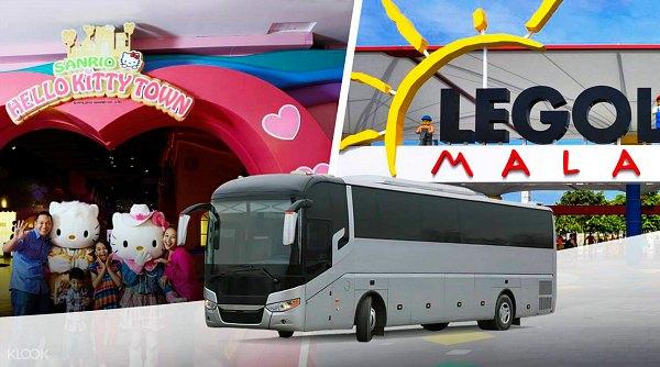 Bus Transfer dari Singapura ke Legoland dan Hello Kitty Town