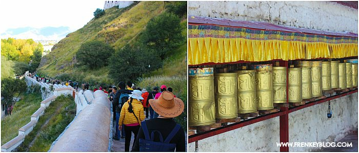 Perjalanan Keluar dari area Potala Palace & Praying Wheel di Tibet