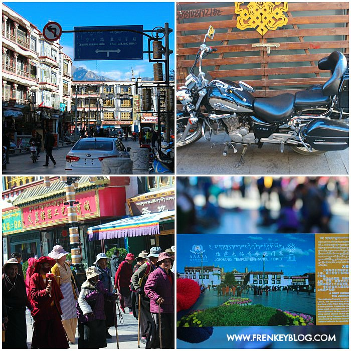 Suasana Perjalanan Menuju Jokhang Temple