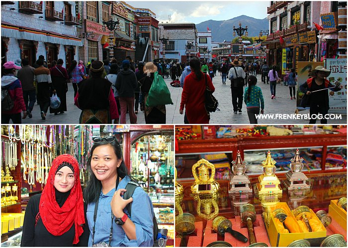 Bhakor Market ( Dekat Jokhang Temple ), Chinese Muslim Girl, Oleh-Oleh Khas Tibet ( Praying Wheel )