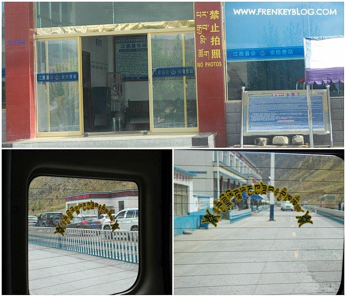 Check Point Tibet di perjalanan Lhasa ke Shigatse