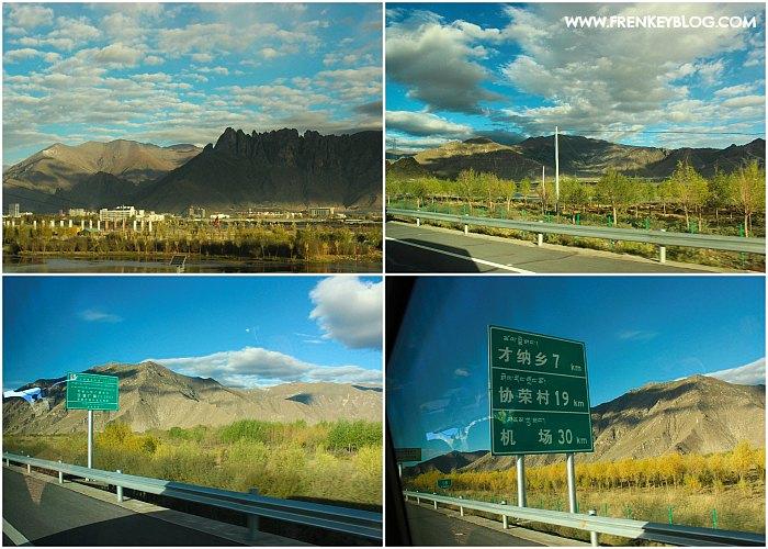 Pemandangan Awal Perjalanan Lhasa ke Shigatse