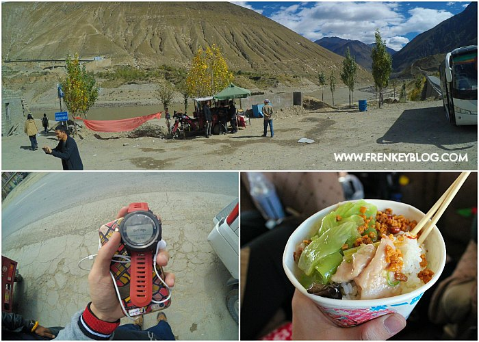 Salah Satu Suasana Rest Area Bayangan, Jam Garmin yang Sempat Hilang, Makan Siang ternikmat yang pernah gue makan selama di Tibet