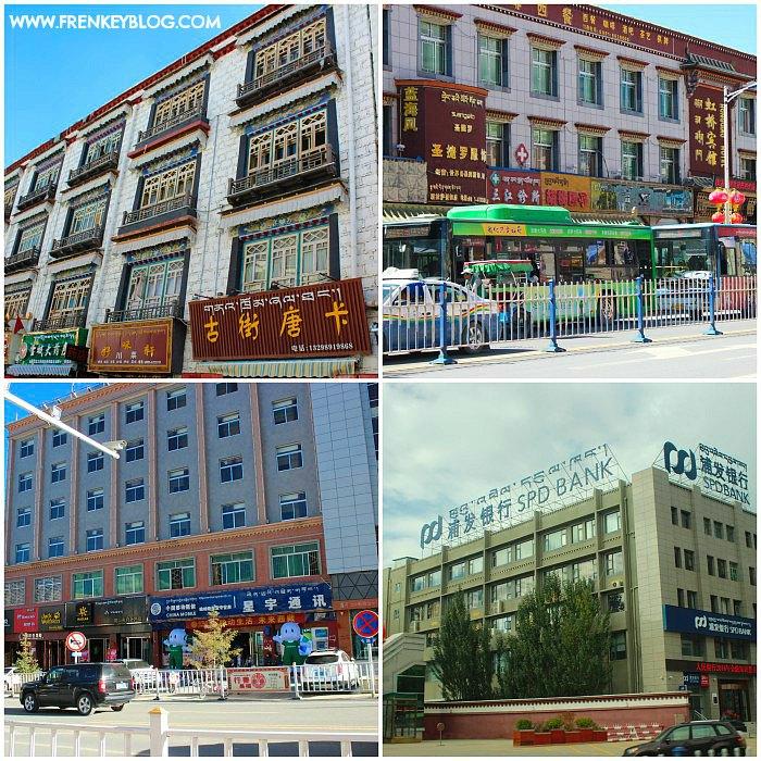 Contoh Bangunan ( Rumah / Kantor ) Khas Tibet, Banyak Jendela nya!