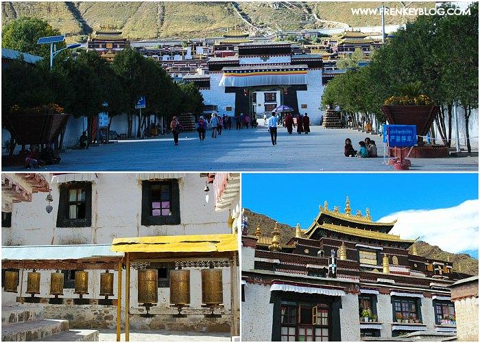 Tashilunpo Monastery dari luar gerbang, Praying Wheel, Salah satu bangunan di dalam Tashilhunpo Monastery