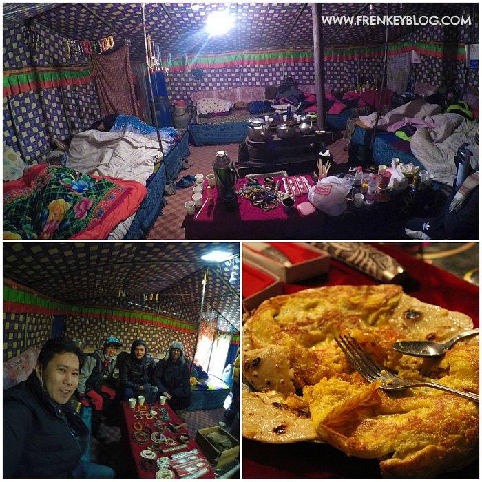 Suasana di dalam Tenda Rongbuk, Makan Malam hari itu Telur Omelet