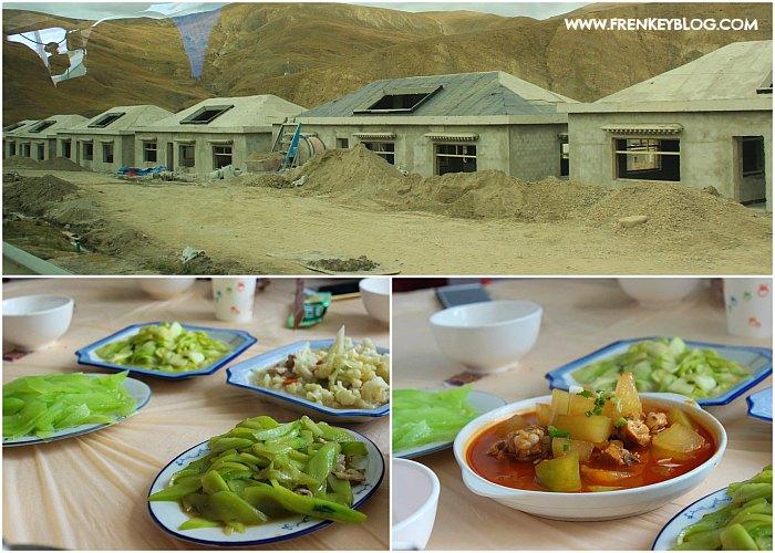 Perumahan Tibet yang sedang di bangun - Menu Makan Vegetarian Siang itu