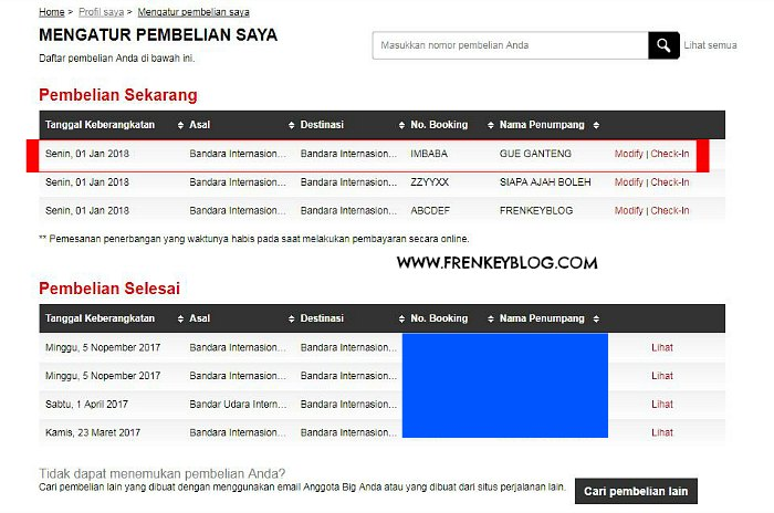 AirAsia - Kode Booking Baru Berhasil Di Tambah