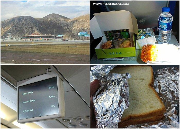 Bandara Yushu, Makan Gratis Part 1 ( Nasi Set ), Informasi Penerbangan, Makan Gratis Part 2 ( Roti Isi Daging )