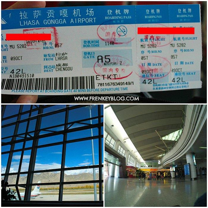 Boarding Pass Lhasa ke Chengdu, Suasana Lhasa Gonggar Airport