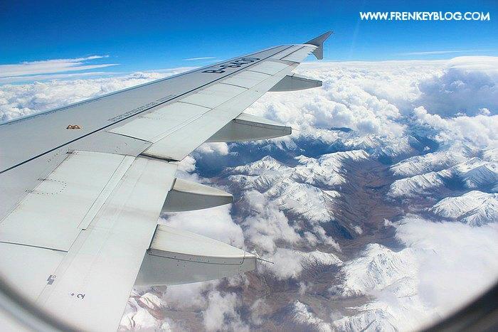 Pegunungan Himalaya di Penerbangan Lhasa ke Chengdu