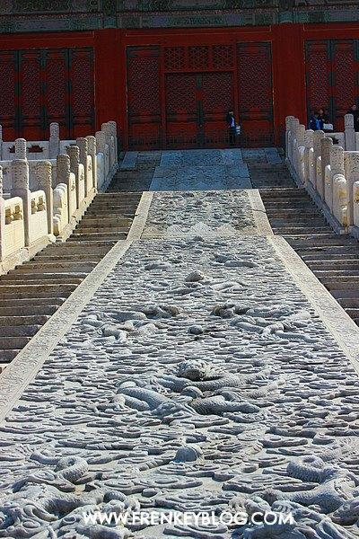 Ukiran Cantik di Forbidden City Beijing