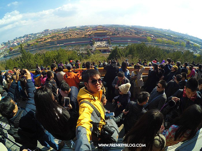 Selfie di tengah keramaian - Jingshan Park