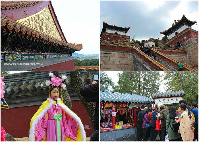 Arsitektur Bangunan di Summer Palace, Deretan Anak Tangga untuk naik ke Atas, Ada Penyewaan Baju, Antri Menggambar Nama